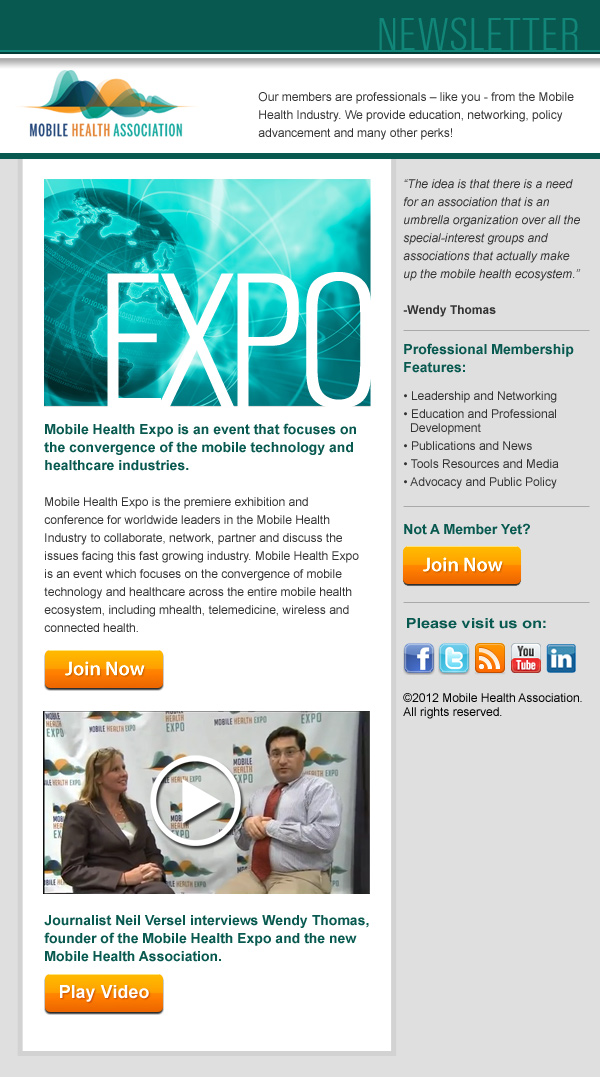 Mobile Health Association Website