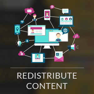 Redistribute content marketing