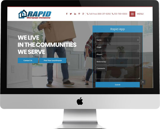 Rapid Mortgage Company Website